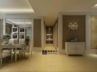 海马壹号公馆199平方四室两厅现代简约装修效果图 走廊,199平,13万,现代,四居,客厅,棕色,黄白,