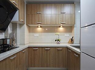 ,95平,7万,新古典,公寓,厨房,原木色,白色,
