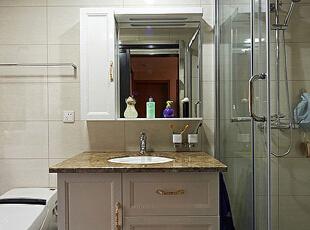 ,95平,7万,新古典,公寓,卫生间,白色,