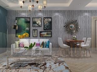昌建誉峰装修效果图86平现代简约风格案例客厅详情,86平,6万,现代,两居,客厅,黑色,白蓝,
