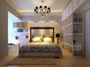 昌建誉峰装修5号楼86平两室两厅现代简约风格鉴赏--次卧装修效果图,86平,6万,现代,两居,卧室,米黄色,
