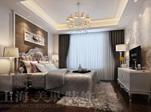 昌建誉峰装修现代简约风格86平两室两厅案例效果图:卧室。,86平,6万,现代,两居,卧室,棕色,白色,