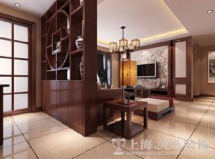 永威翡翠城装修130平三室两厅新中式案例——电视背景墙效果图,130.0平,10.0万,中式,三居,