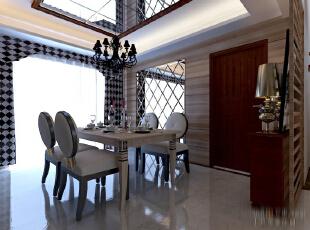 ,260平,30万,现代,四居,餐厅,原木色,白色,