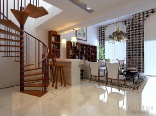 ,260平,30万,现代,四居,客厅,原木色,白色,