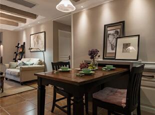,106平,9万,美式,两居,餐厅,褐色,咖啡色,