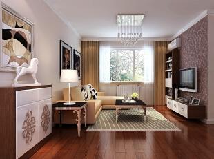 ,90平,4万,现代,两居,客厅,