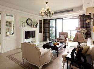 ,156平,12万,美式,公寓,客厅,白色,浅绿色,