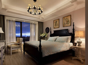 ,156平,12万,美式,公寓,卧室,粉红色,白色,
