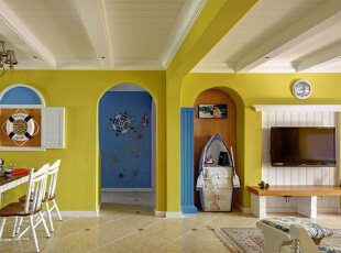 地中海公寓-清新地中海风