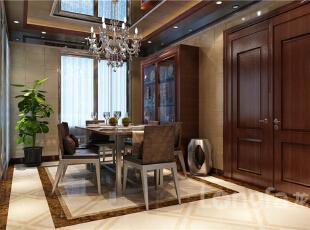 ,124平,4万,中式,四居,客厅,原木色,
