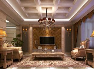,140平,欧式,三居,客厅,黑白,棕色,