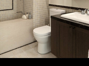 ,61平,4万,现代,公寓,卫生间,褐色,白色,