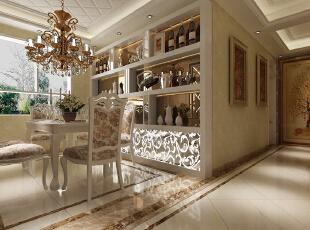 欧式古典风格,最擅于运用金色和银色以呈现居室的气派与复古韵味。 客厅内的其他家具,大多有花纹、雕饰,尤其是有花及树木等图案装饰,线条优美。由于选用的家具极为奢华古典,为了与整体空间相搭配,屋主也选用了华丽的窗帘、相搭配的挂画、绣布装饰。,153平,18万,欧式,四居,餐厅,黄白,