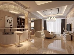 ,370平,75万,现代,别墅,客厅,餐厅,黄色,