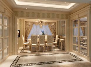 ,760平,0万,欧式,别墅,餐厅,米黄色,
