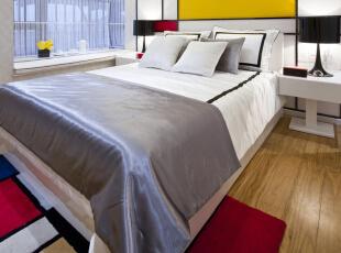 ,103平,13万,简约,三居,卧室,黑色,白色,黄色,红色,