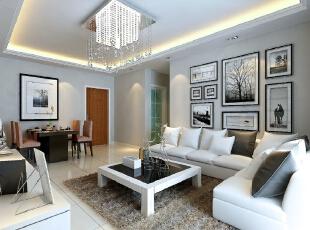 ,89平,60800万,现代,两居,客厅,