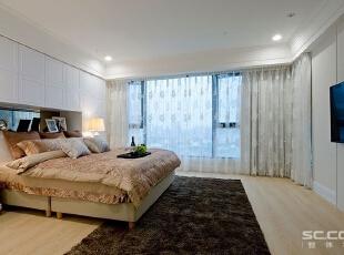 ,144平,19万,现代,三居,卧室,白色,