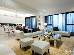 ,144平,19万,现代,三居,客厅,白色,