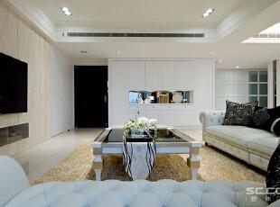 ,144平,19万,现代,三居,客厅,米黄色,