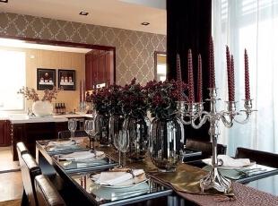 ,235平,60万,现代,四居,餐厅,棕色,