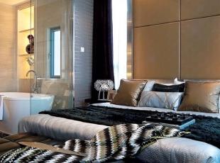 ,235平,60万,现代,四居,卧室,棕色,