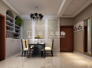 贰号城邦89平两室两厅简欧风格餐厅装修效果图,89平,10万,欧式,两居,餐厅,春色,
