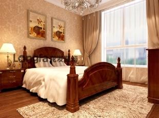 主卧室:卧室空间是男女主人最个人化的地方,需要更多的自由空间来营造二人世界,对灯光的控制在这可以很好的调节气氛。主卧室的装饰也是以后现代注意为主,遵循业主的要求,米黄色的壁纸、米黄色的床体配以棕色的背景墙,让温馨的卧室显得更加细致,有品位。,232平,15万,欧式,四居,卧室,米黄色,