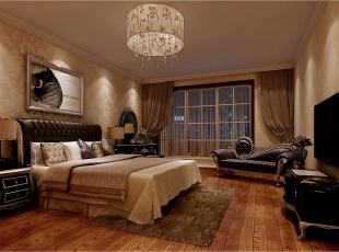 ,334平,60万,欧式,别墅,卧室,米黄色,