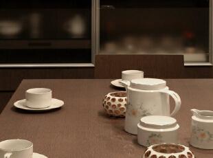 ,130平,17万,混搭,三居,餐厅,咖啡色,白色,