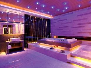 浪漫卫浴间,休闲室,紫色,黑色,