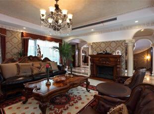,289平,15万,美式,别墅,客厅,原木色,