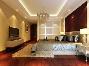 ,140平,5万,欧式,三居,卧室,黄白,红色,