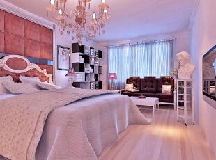 ,160平,12万,现代,复式,卧室,棕红色,白色,