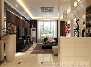 ,138平,4万,现代,三居,客厅,原木色,黑白,白色,