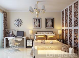 ,138平,4万,现代,三居,卧室,原木色,白色,黑白,