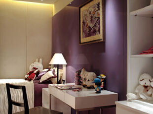 ,192平,38万,现代,四居,书房,紫色,米黄色,