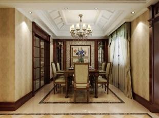 ,420平,20万,新古典,别墅,餐厅,红色,黄色,