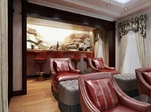 ,420平,20万,新古典,别墅,休闲室,红色,褐色,粉色,