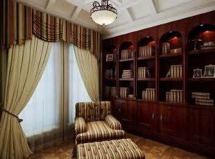 ,420平,20万,新古典,别墅,书房,原木色,白色,