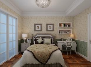 ,158平,8万,小资,三居,卧室,米黄色,