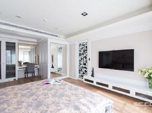 ,163平,23万,现代,三居,卧室,黑白,粉色,