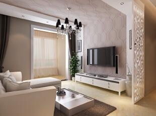 ,84平,8万,两居,现代,客厅,黄白,粉色,