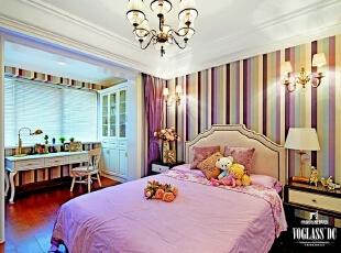 ,260平,30万,新古典,别墅,卧室,粉红色,白色,