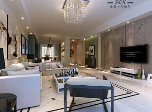 ,120平,60万,现代,两居,客厅,棕色,绿色,白色,