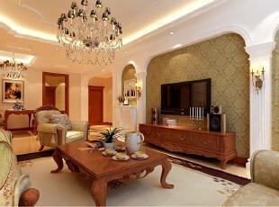 ,140平,20万,欧式,三居,客厅,原木色,白色,
