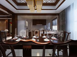 保定秀兰尚城200平米中式古典风格装修案例赏析,200平,12万,中式,四居,餐厅,