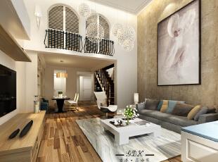 ,130平,40万,现代,两居,客厅,黄色,