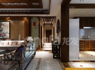 保定秀兰尚城200平米中式古典风格装修案例赏析,200平,12万,中式,四居,玄关,